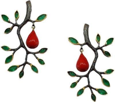 Jalparee Jalparee,s Classic Floral Drop Earrings Alloy Drop Earring