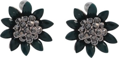 The Fine World A lovely pair of German Silver with stones Metal Stud Earring