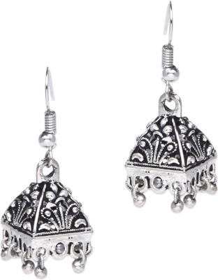 Supriya Antique White Metal Jhumki Earring
