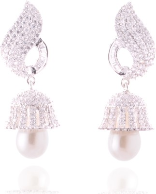 GHK American Diamond Designer Cocktail Cubic Zirconia Alloy Chandelier Earring