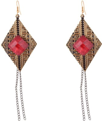 Weldecor Bronze with Hanging Chain Alloy, Metal Drop Earring