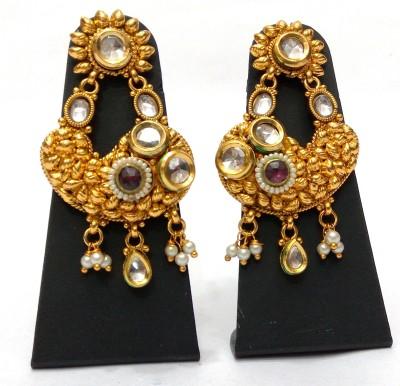 Womaniya Kundan Delight Alloy Drop Earring