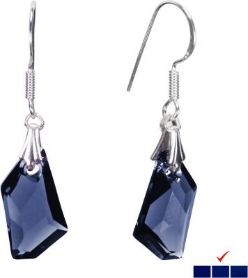 Pearl Paradise Ocean Love Swarovski Crystal Silver Dangle Earring