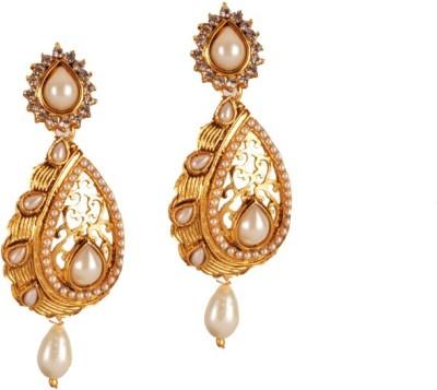 Ratnaraj India Partywear Antique Designer Pearl Beautiful Copper Chandelier Earring