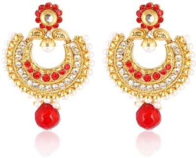 Kashvi Spring Sparkle Cubic Zirconia Brass Chandbali Earring
