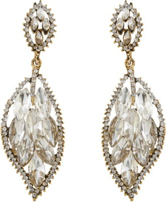 Volama Dsigner Gold Plated Cubic Zirconia Alloy Dangle Earring