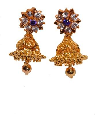 PFJ PFJ3024-EARRING Cubic Zirconia Brass, Copper Jhumki Earring