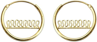 SuvidhaArts Festive Fashion Brass Hoop Earring