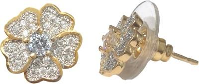 The Hub Diamond Lookalike Metal Stud Earring