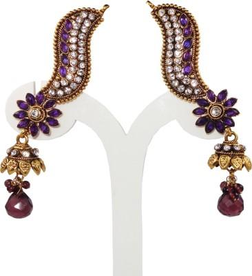 Anjan Lovely Golden Designer Cubic Zirconia Brass Jhumki Earring