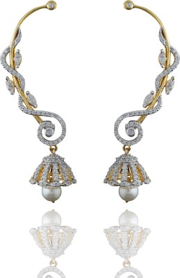 Chaahat Fashion Jewellery Attractive Designed Cubic Zirconia Copper Cuff Earring
