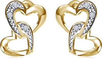 Kirati Double Heart Cubic Zirconia Sterling Silver Stud Earring