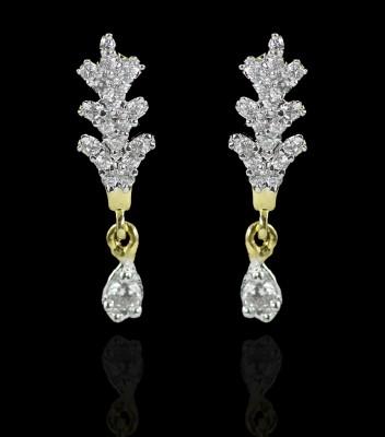Zaveri Pearls Eye-Catching Brass Drop Earring