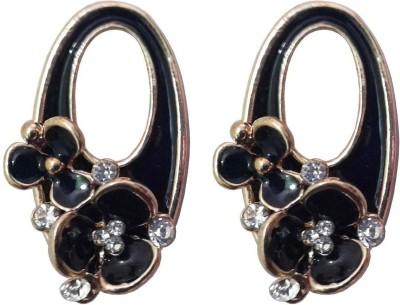 Shreya Collection Spring Sparkle-Black Alloy Stud Earring