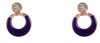 R18Jewels-Fashion&U Stylish Sensuous_Purple Metal Stud Earring