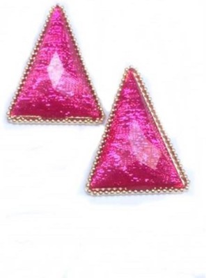 French Aura Pink Armour Alloy Stud Earring