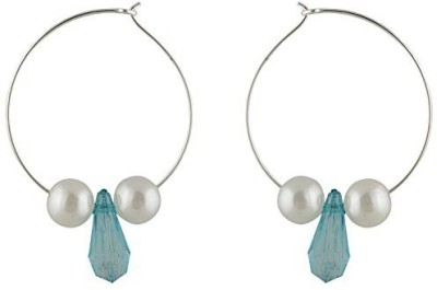 TrinketsANDTreasures Blue Alloy Hoop Earring