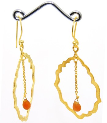 Casa De Plata Oval Red Carnelian Brass Earring Carnelian Brass Dangle Earring