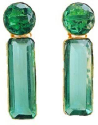 Closet Queen Summer Shades Crystal Brass Stud Earring