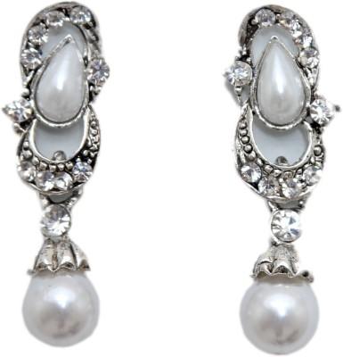 Greek Sojourn F3B72 Pearl Brass Drop Earring