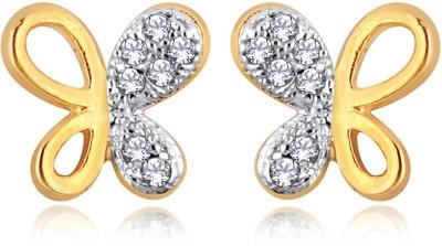 Alamod ALER 5086 Cubic Zirconia Brass Stud Earring