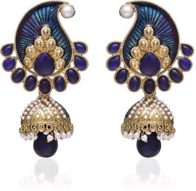 Zaveri Pearls Meenakari Zinc Jhumki Earring
