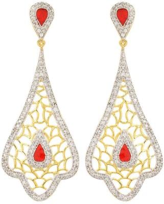 Apollodiamonds Designer Dangler Cubic Zirconia Alloy Drop Earring
