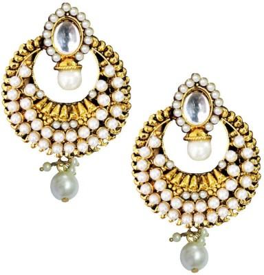Beingwomen Elegant Deepika padukone Inspired Gold Plated Pearl Fashion Alloy Drop Earring