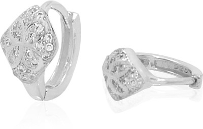 R S Jewels New Fashion Designs Cubic Zirconia Sterling Silver Huggie Earring