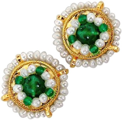 Surat Diamond Glowing Onyx, Pearl Metal Stud Earring