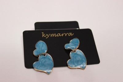 Kymarra HeartBlue Earrings Brass Earring Set