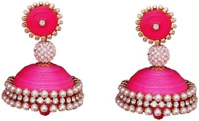 Jyotis Creations Pink Paper Jhumki Earring