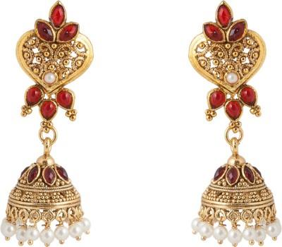 Aaina Home Decor Trendy Earring Cubic Zirconia Copper Jhumki Earring