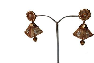 modifier GOLDEN RECTANGLE Crystal Alloy Jhumki Earring