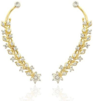 Luxor Classic Brass Cuff Earring