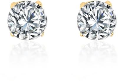 Naina Enterprises Naina Enterprises Round Solitaire stud earrings Diamond Acrylic Stud Earring