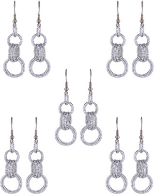 Dubbai Gold Interlinked Rings Metal Earring Set