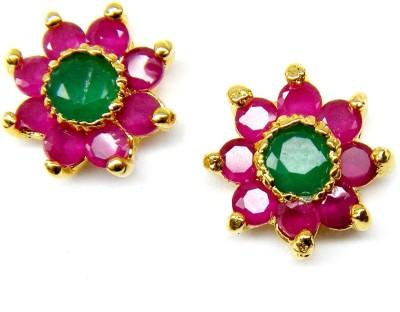 E-Designs TOP76GJ085-250 Cubic Zirconia Brass Stud Earring