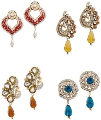 Buyclues RCCJ3437 Crystal Brass Earring Set