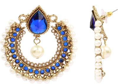 Maisha Gracious Blue Alloy Chandbali Earring