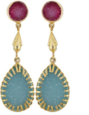 Gehnamart Marvellous Blue Alloy Dangle Earring