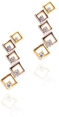 Sparkle Street Alloy, Crystal, Metal Drop Earring