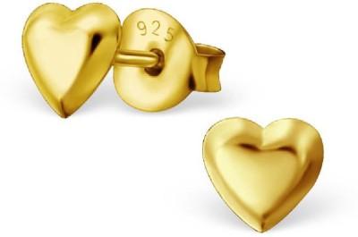Maayin Plain Heart Sterling Silver Stud Earring