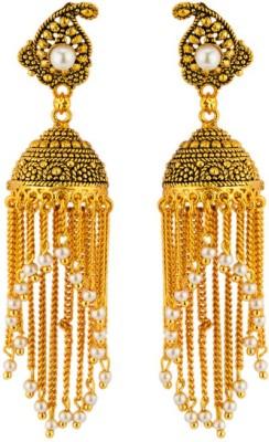 CTW Floral Latest Designer Bollywood Zummer Brass Jhumki Earring