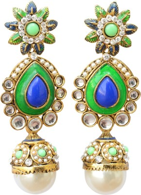 Foppish Mart Stunning Royal Party Pearl Metal Drop Earring