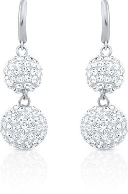 Oviya Scintillating Glamor Crystal Alloy, Brass Dangle Earring