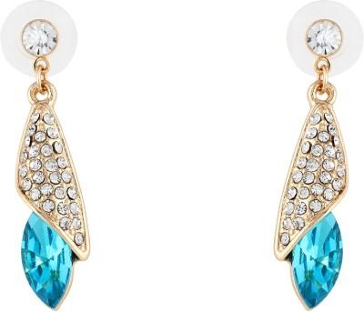 Akshata Blue Spark Crystal, Cubic Zirconia Alloy Drop Earring
