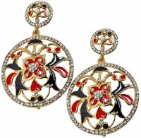 Maayra Lively Stone Work Copper Drop Earring best price on Flipkart @ Rs. 495