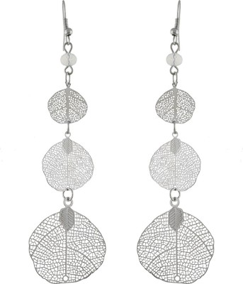 One Stop Fashion Sleek And Appealing Silver Colour Alloy Dangle Earring