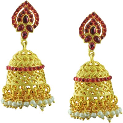 Maalyaa COMMON WEAR EARRINGS Brass, Copper Jhumki Earring